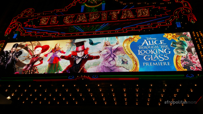 Alice through the looking glass place at the El Capitan Theatre