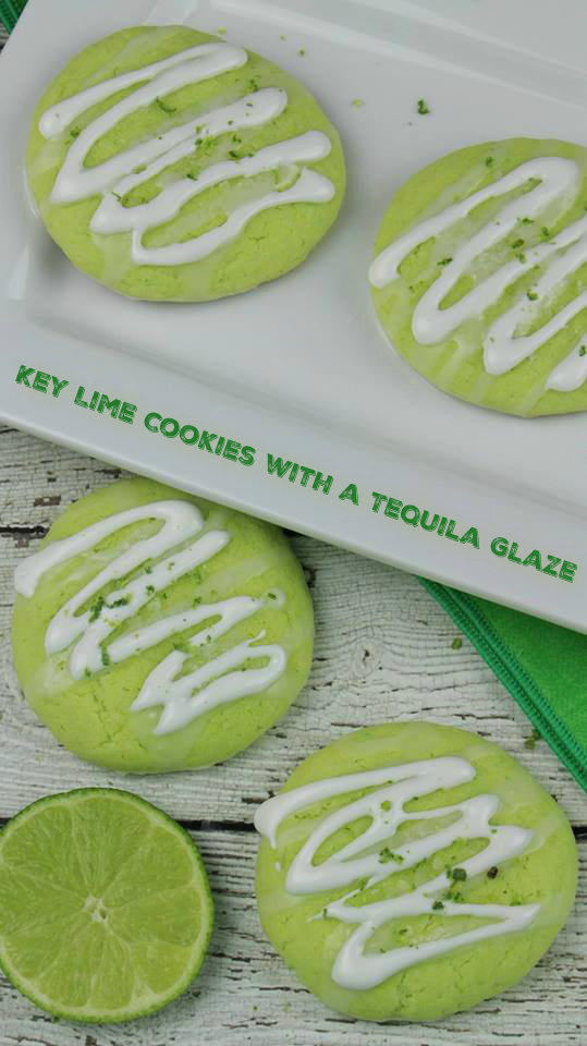 Key Lime Cookies with a Tequila Glaze