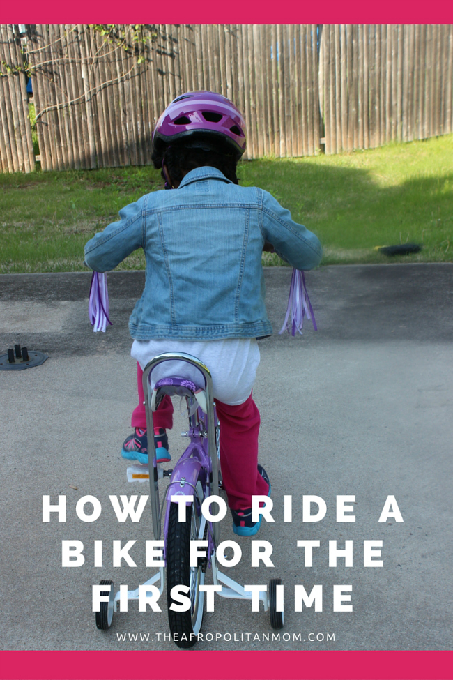 how to ride a bike for the first time