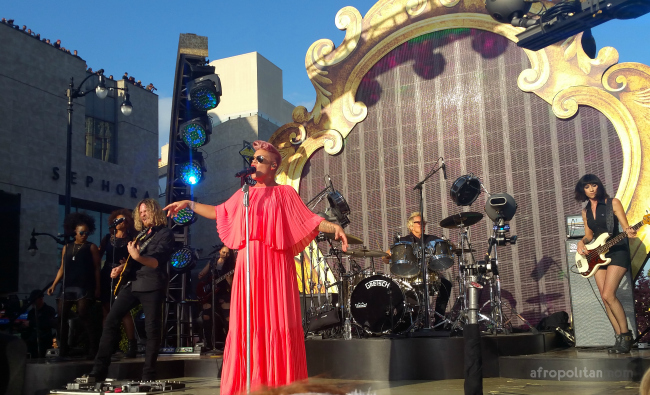 pink performing on jimmy kimmel live