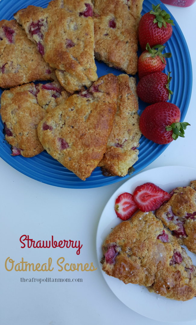 Easy Strawberry Oat Scones Recipe