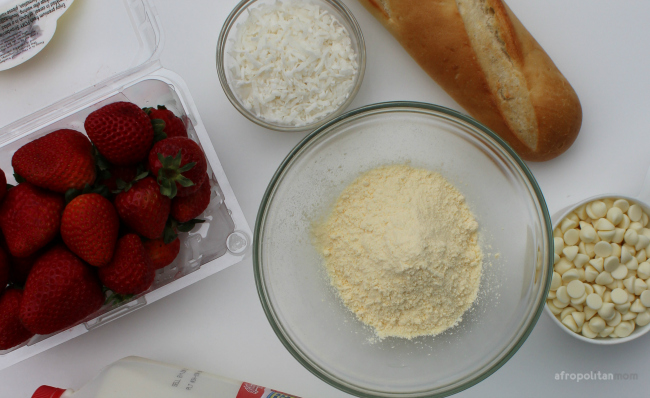 Strawberry Bread Pudding Ingredients