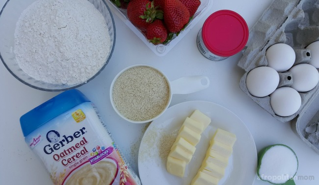 Strawberry Oat Scones ingredients