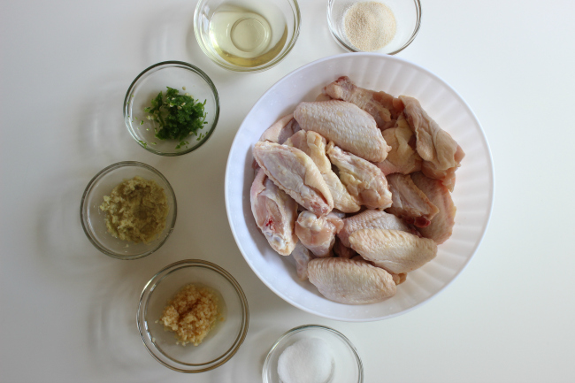 Baked Sweet and Spicy Chicken Wings ingredients
