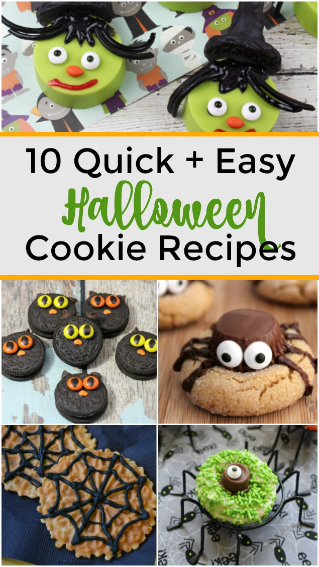 10 Quick + Easy Halloween Cookie Recipes
