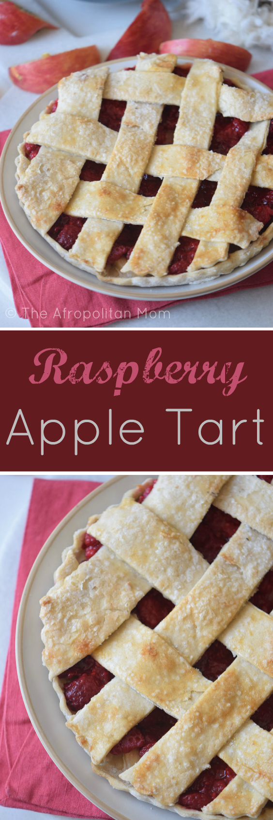 Raspberry Apple Tart has all the delicious fall flavors of a traditional apple pie + the citrus and freshness of a raspberry pie. They are sure to be a hit with everyone.
