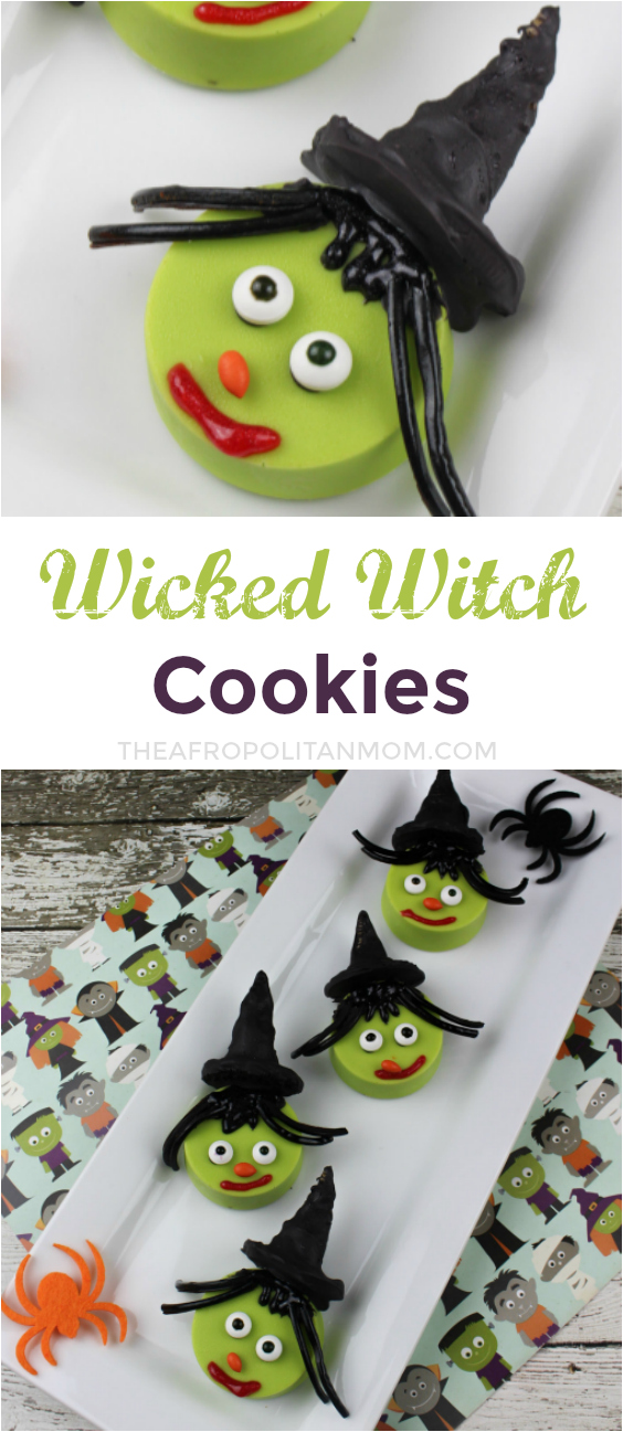 Turn your Oreo cookie into a spooky and festive treat with these easy Halloween treats of Wicked Witch Cookies. Perfect for your spooktacular Halloween party.