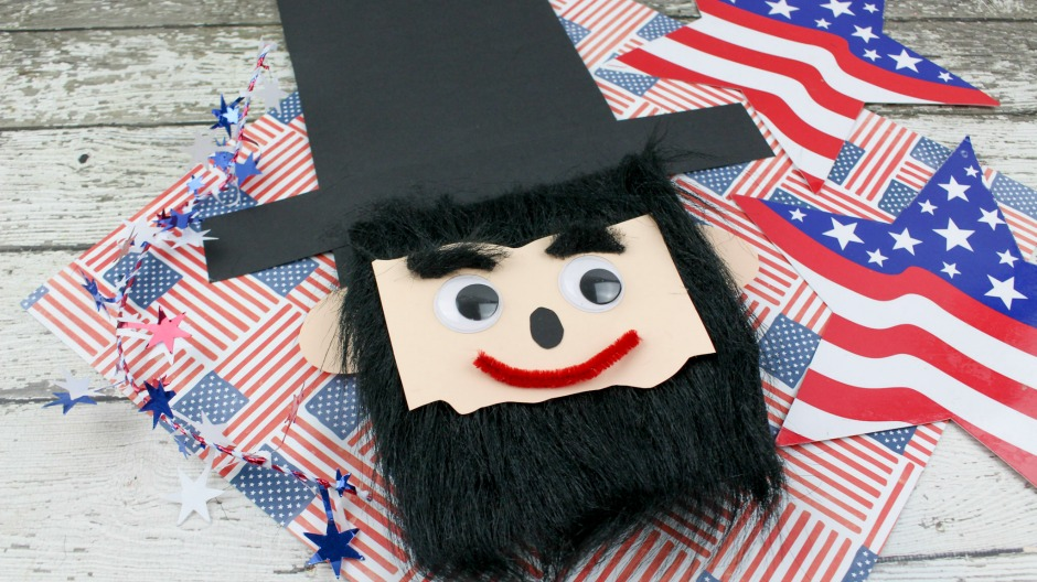 President's Day Craft for Kids - Abe Lincoln Paper Bag Craft