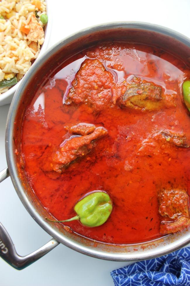 Spicy Nigerian Fish Stew – Fried Fish Stew - moqueca