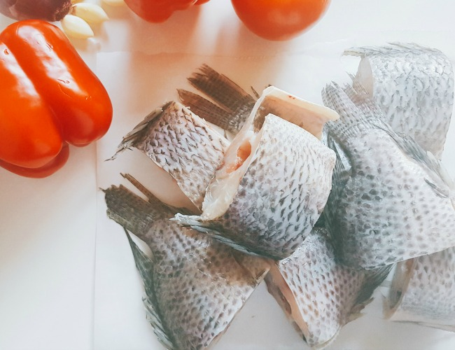 tilapia cut up for stewed fish