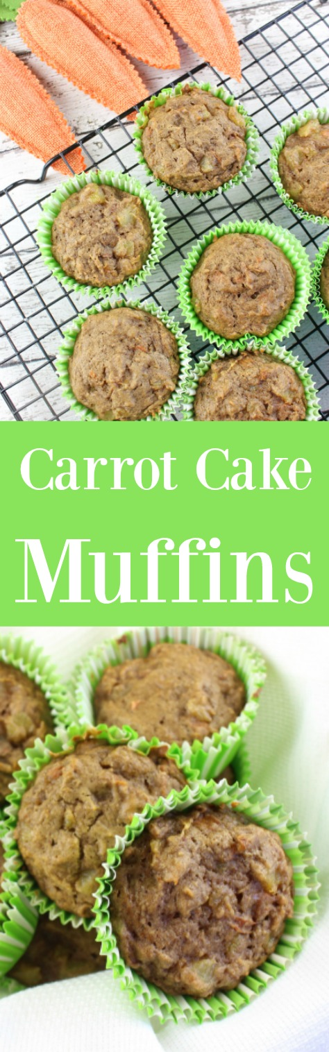 Looking for a healthy muffins recipe? This easy Carrot Cake Muffins Recipe taste amazing and the whole family will enjoy it. Perfect for on-the-go breakfast