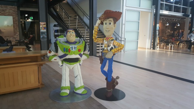 woody and buzz light years at Pixar Animation Studios