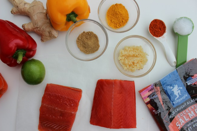 Easy Coconut-Salmon Curry ingredients