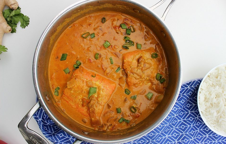 Easy Coconut Salmon Curry Recipe Afropolitan Mom