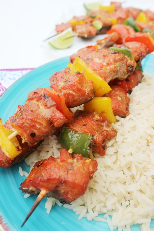 Grilled Salmon Skewers - Easy Barbecue Recipes