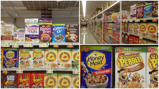 HoneyMaid smores cereal at shoprite