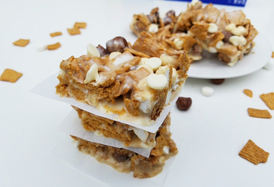 Ooey Gooey No-Bake S'mores Cereal Bars Recipe