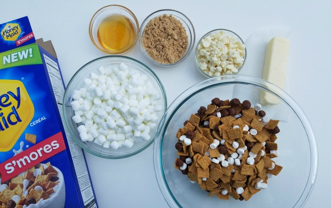 No-Bake S'mores Cereal Bars Ingredients