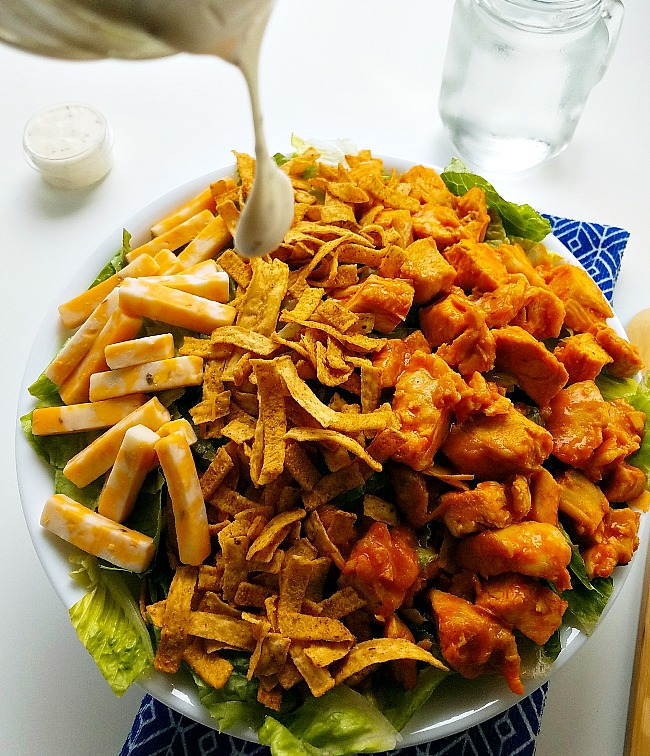 buttermilk ranch dressing on Buffalo Chicken Salad