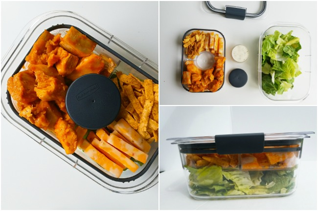 using the Rubbermaid BRILLIANCE Salad & Snack Set
