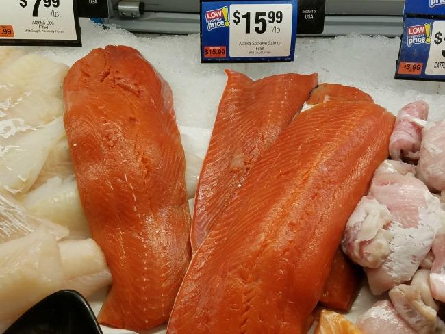 wild-caught alaska sockeye salmon fillet