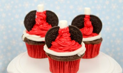 Mickey Mouse Santa Hat Cupcakes