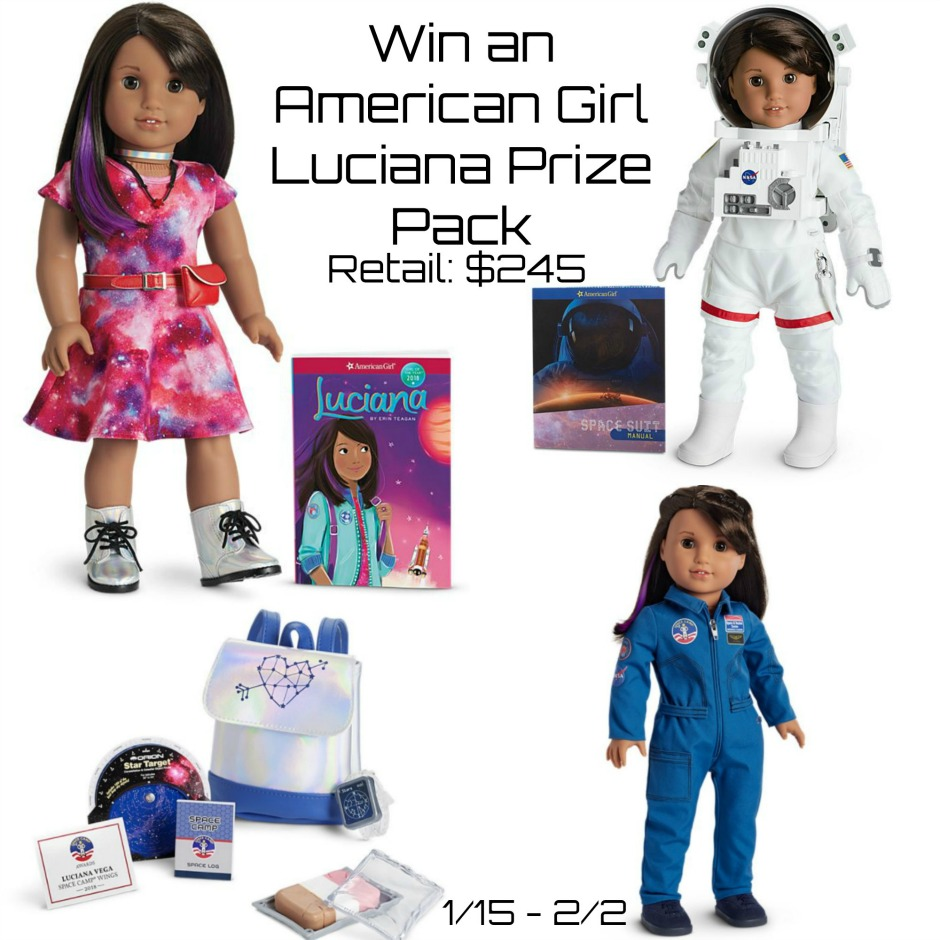 Win 2018 American Girl of the Year - Luciana Vega prize pack giveaway
