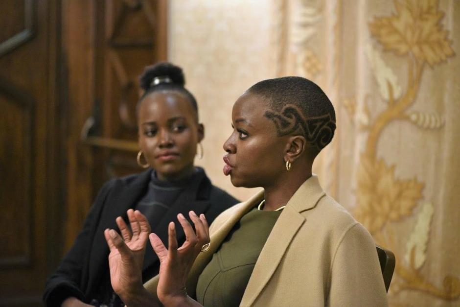 Black Panther Interview with Lupita Nyong'o and Danai Gurira