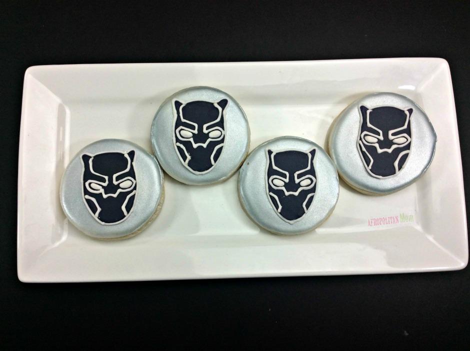 Black Panther Sugar Cookies