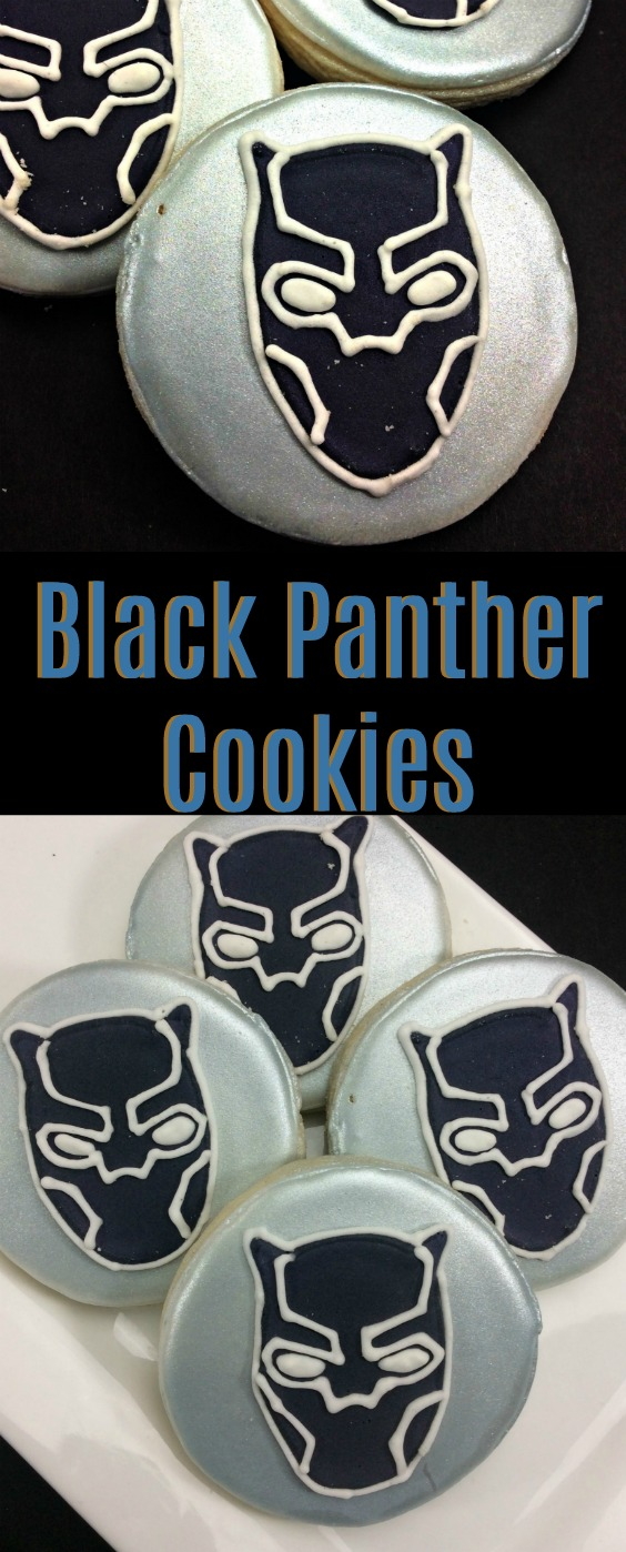 These Marvel Super Hero Black Panther Cookies Recipe were a big hit with the kids! They are perfect for a super hero themed Birthday party or just because!
