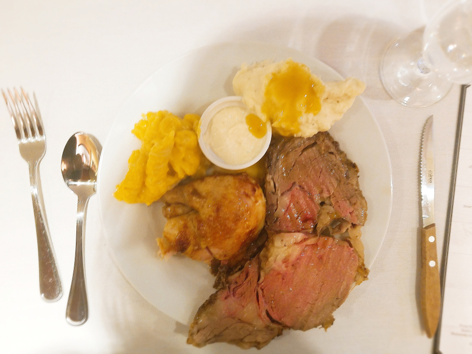 Dinner at Boston Market Rotisserie Prime Rib