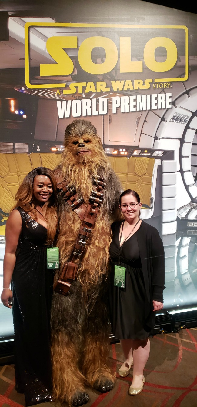 Solo A Star Wars Story World Premiere After-party with Chewbacca
