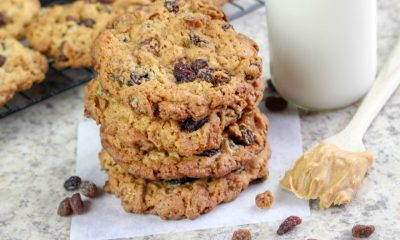 Peanut Butter Raisin Bran Flakes Cookies