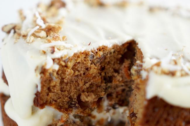 Carrot Cake Close-up shot