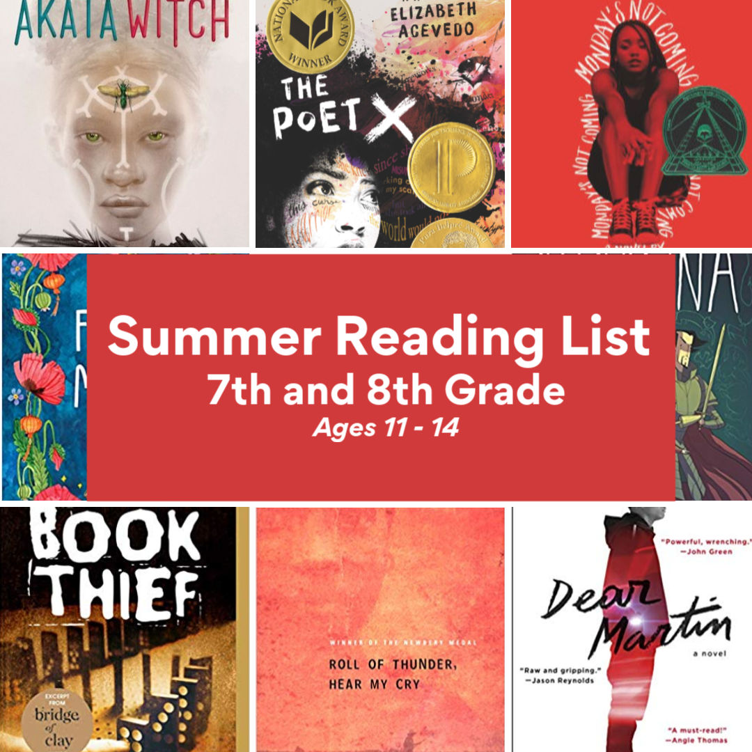 Summer Reading List for 7th and 8th graders