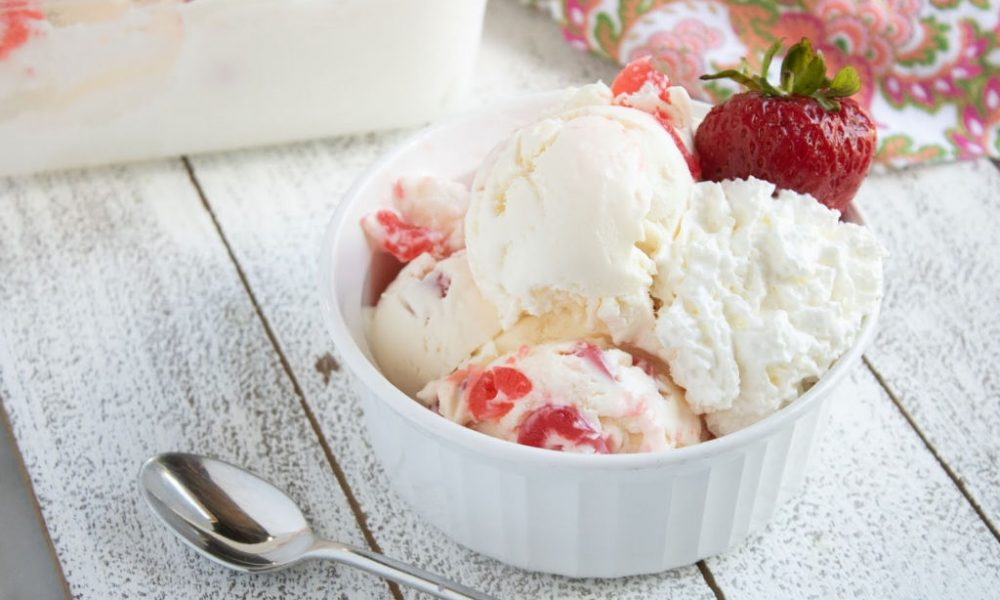 No-Churn Cherry Ice Cream