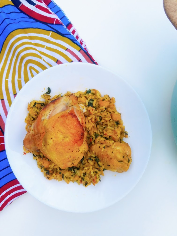 Moroccan Chicken and Rice with Chickpeas