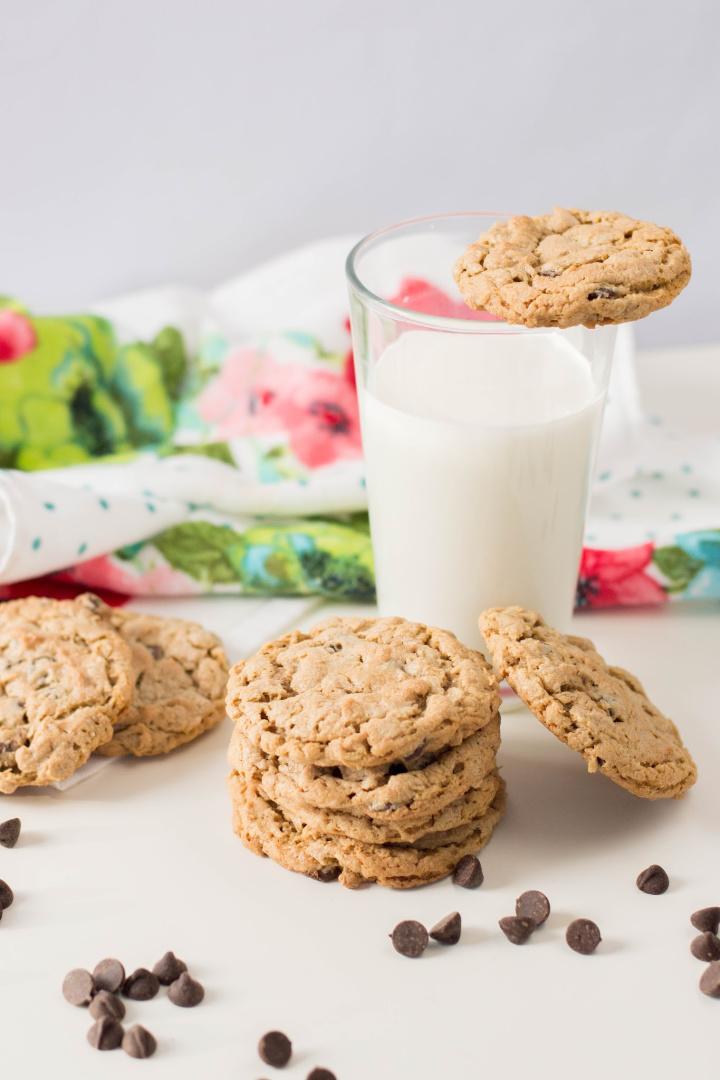 Flourless Peanut Butter Oatmeal Cookies Recipe (Gluten-free)