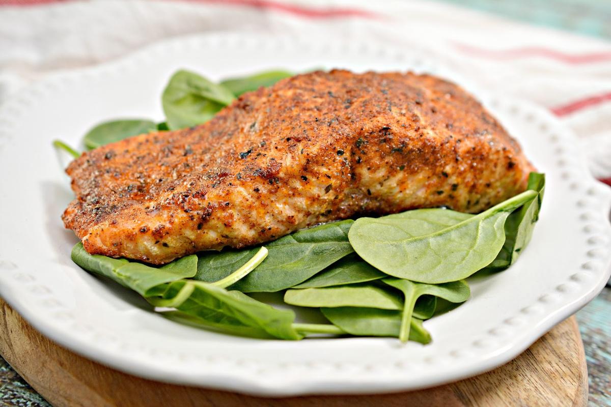 Air Fryer Blackened Salmon Recipe Keto