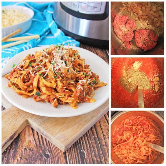 How To Make Easy Instant Pot Pasta with Meat Sauce