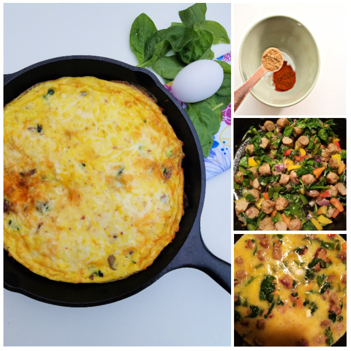How To Make Sausage and Spinach Frittata