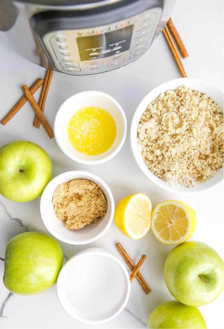 Ingredients to make Apple Crisp Instant Pot