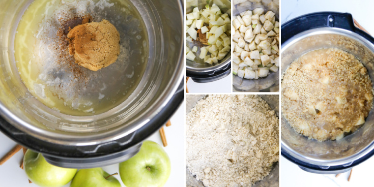 HOW TO MAKE INSTANT POT APPLE CRISP – STEP-BY-STEP