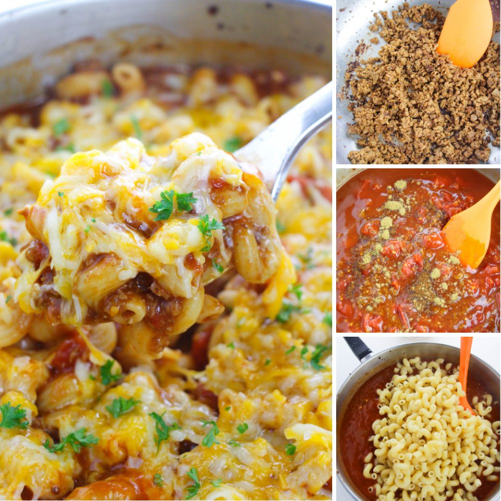 How to make Beef Enchilada Pasta Bake - steps-by-steps