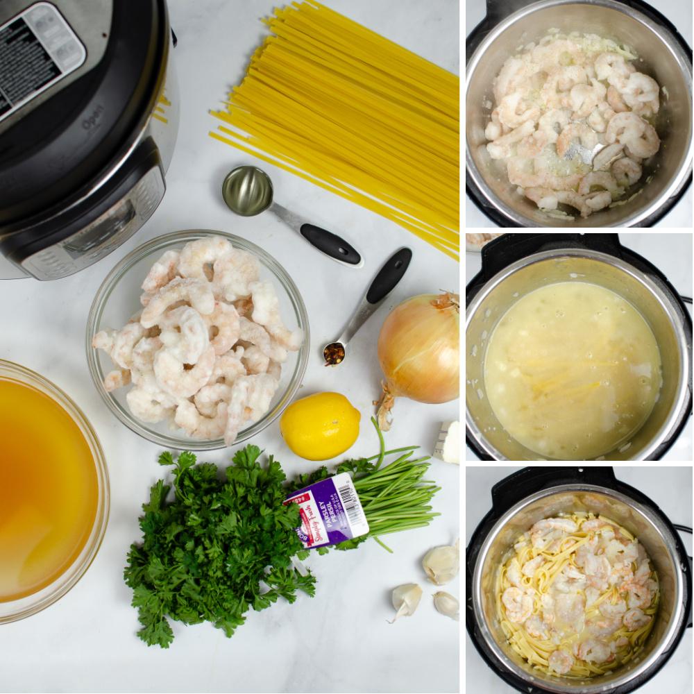 How to makeInstant Pot Creamy Shrimp Scampi- steps-by-steps