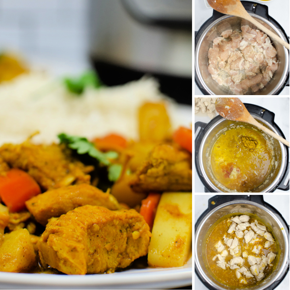 How to make Instant Pot Chicken Curry- steps-by-steps