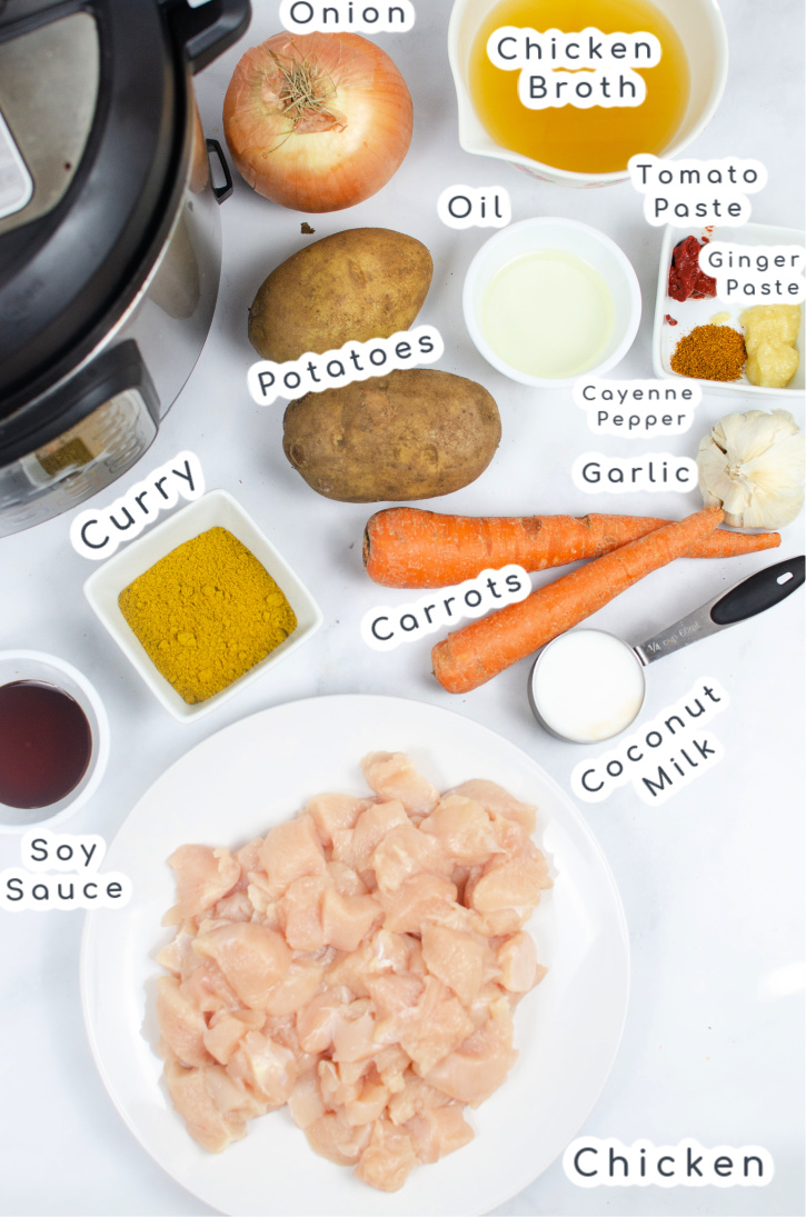 Ingredients for Chicken Potato Curry