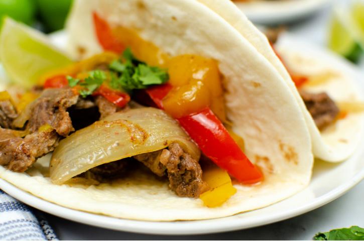 Steak Fajitas Tacos