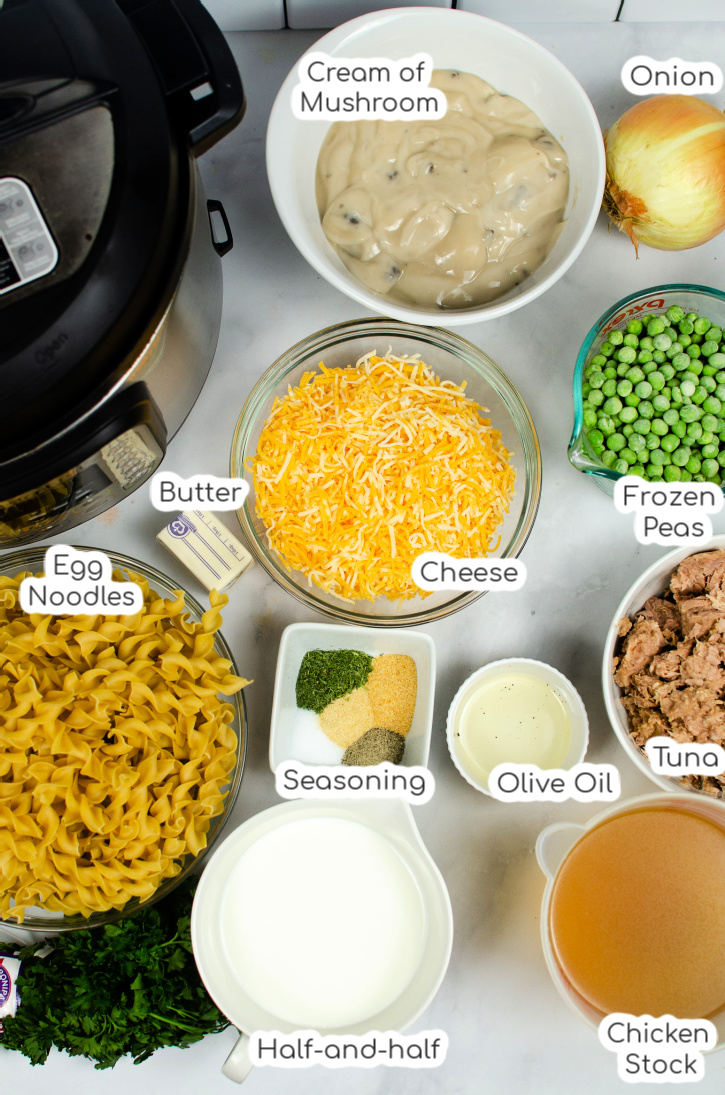 Creamy Tuna Casserole Ingredients - What you'll need to make Tuna Casserole