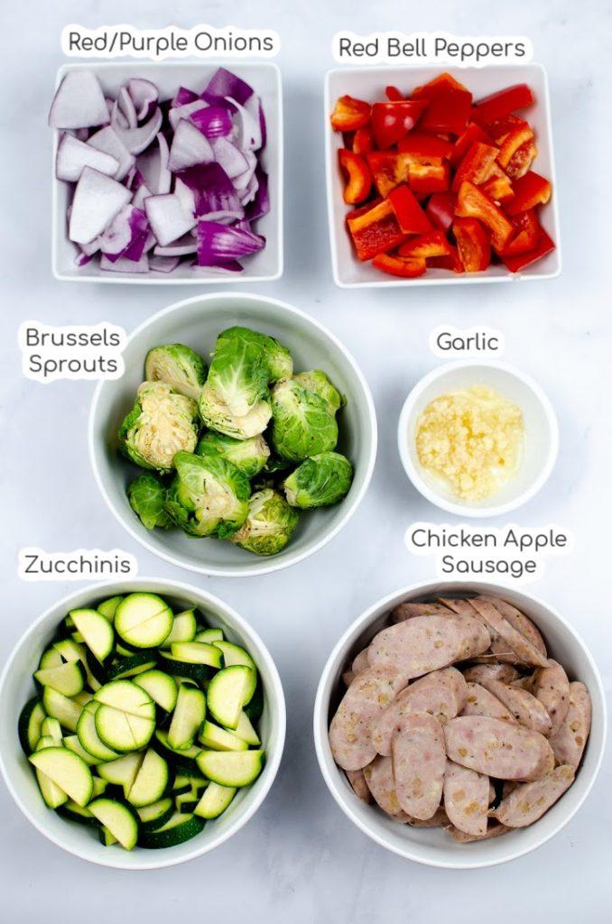 Chicken Sausage and Veggie Skillet Ingredients